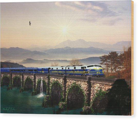 Orient Express Wood Print by Michael Rucker