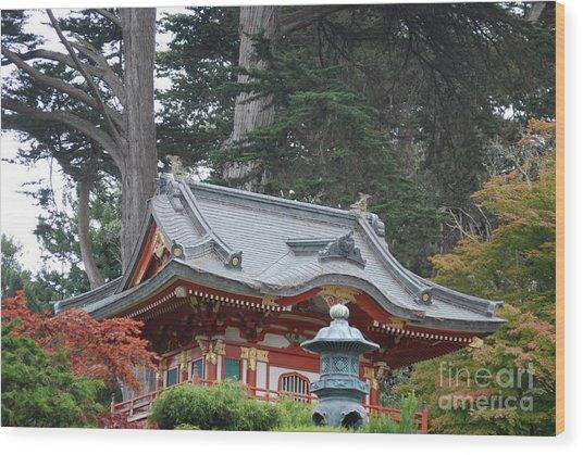 Oriental Garden #1 Wood Print