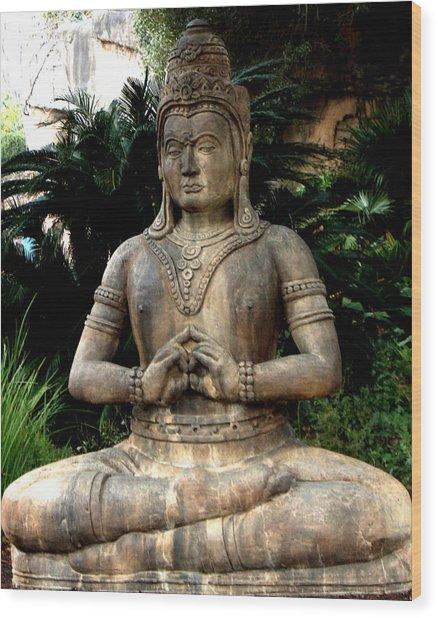 Oriental Statue Wood Print