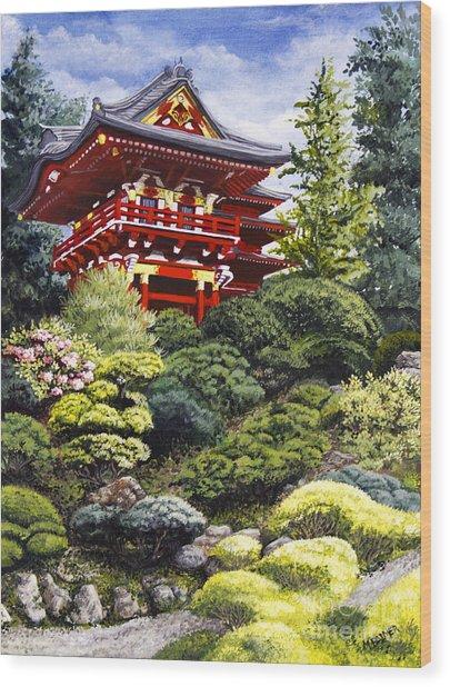 Oriental Treasure Wood Print