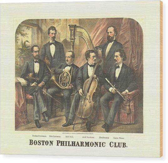 Original Boston Philharmonic Club 1875 Wood Print by Padre Art