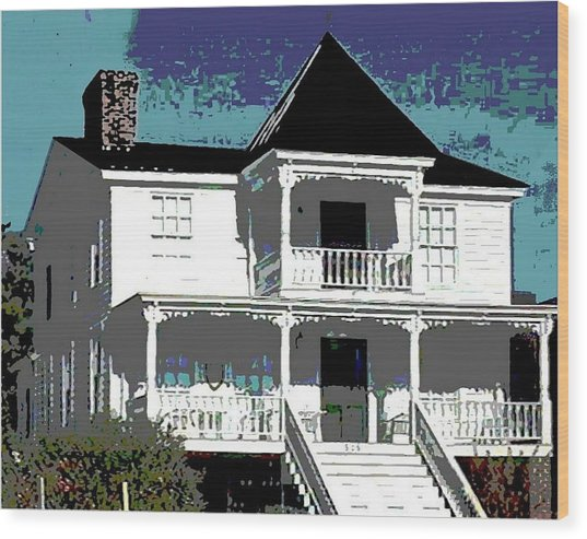 Original Fine Art Digital White House North Carolina Wood Print