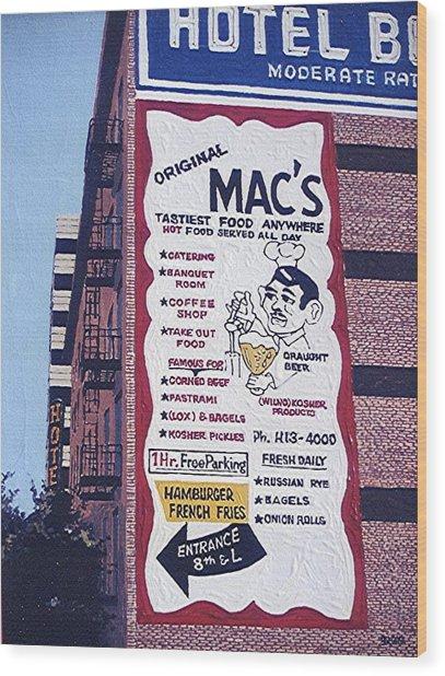 Original Mac's Wood Print