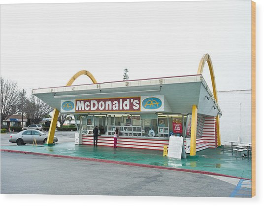 Original Mcdonald's Restaurant Wood Print