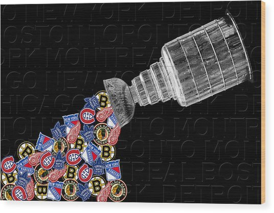 Original Six Stanley Cup 2 Wood Print