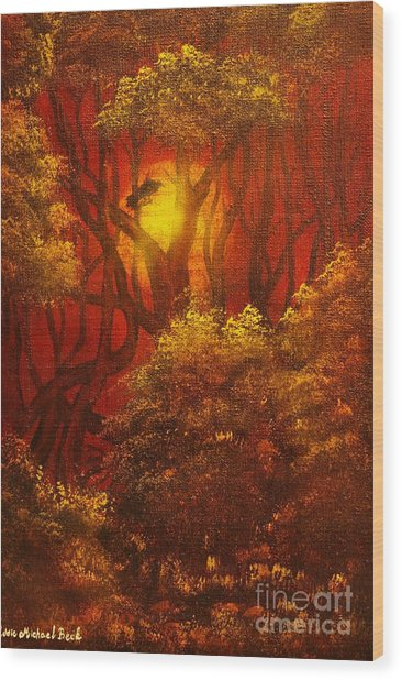 Fairytale Forest- Original Sold - Buy Giclee Print Nr 27 Of Limited Edition Of 40 Prints  Wood Print