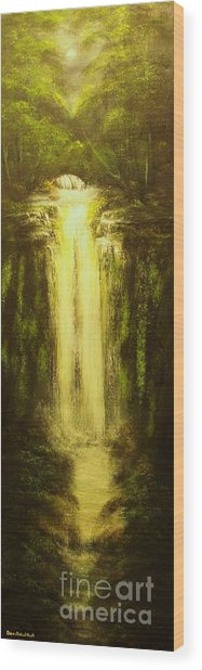 High Falls-original Sold-buy Giclee Print Nr 37 Of Limited Edition Of 40 Prints   Wood Print