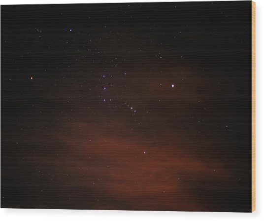 Orion With His Feet In The Clouds Wood Print