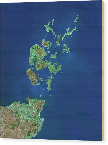 Orkney Islands Wood Print by Planetobserver/science Photo Library
