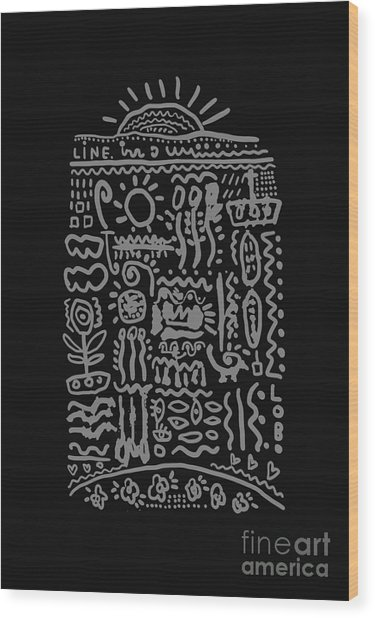 Ornament Which Consists Of A Plurality Wood Print