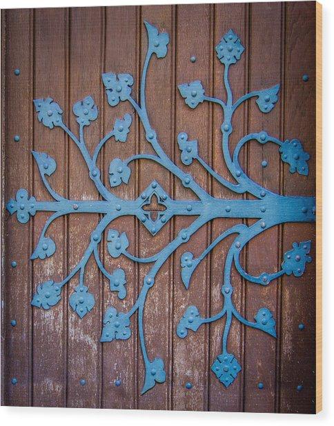 Ornate Church Door Hinge Wood Print