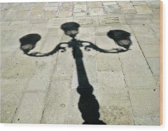 Ornate Shadow Wood Print