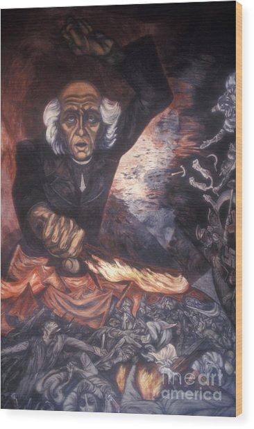 Orozco Mural Guadalajara Wood Print