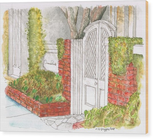 Oscar De La Renta Office Entrance In Melrose Place - West Hollywood - California Wood Print