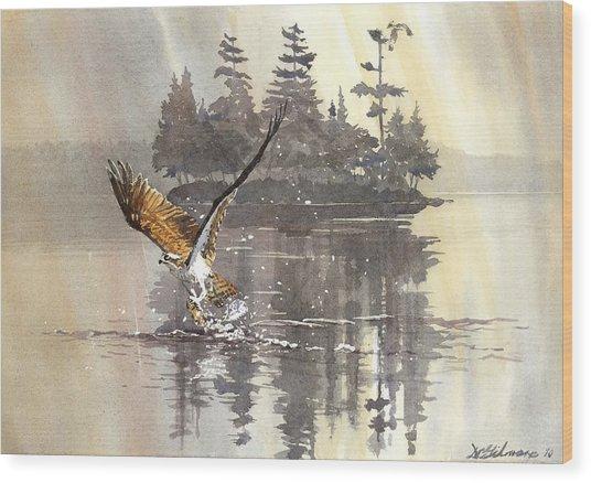 Osprey Hunting No.2 Wood Print
