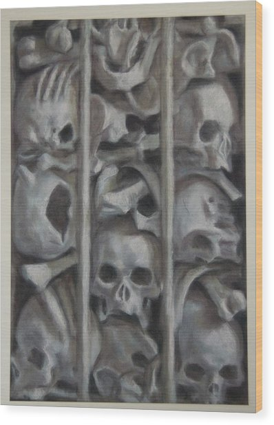 Ossuary Wood Print