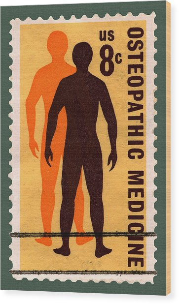 Osteopathic Medicine Stamp Wood Print