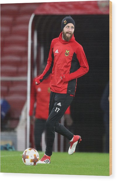 Ostersunds Fk Training Session And Press Conference - Emirates Stadium Wood Print by Adam Davy - PA Images