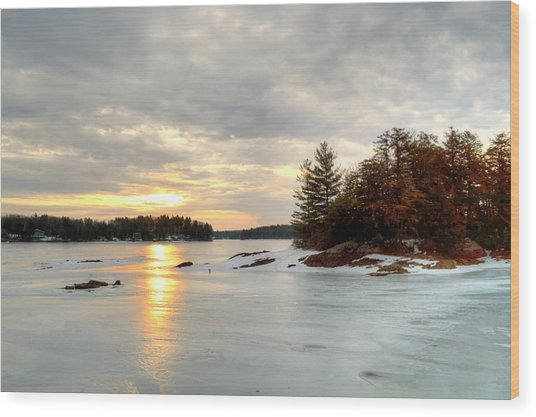 Otis Reservoir Sunrise No. 2 Wood Print