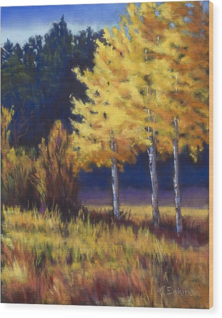 Our Brilliant Fall Wood Print