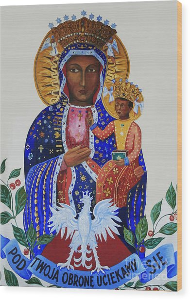Our Lady Of Czestochowa Wood Print