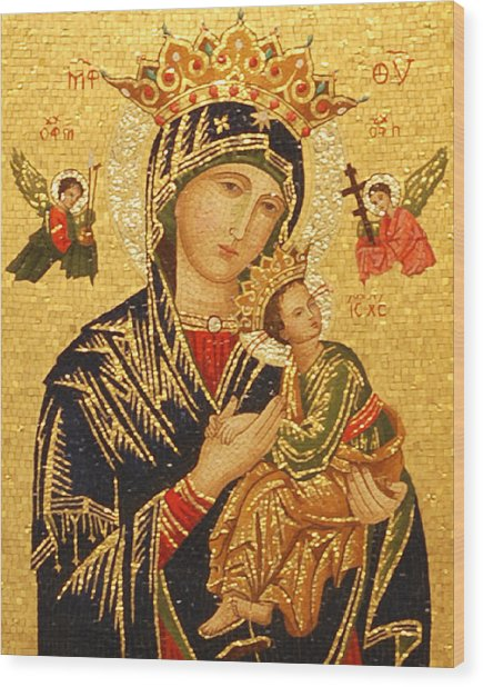 Our Lady Of Perpetual Help  Wood Print