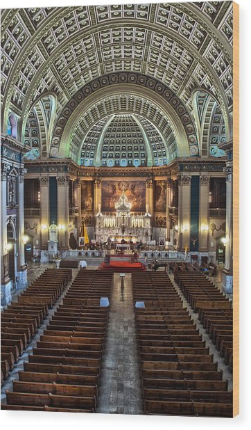 Our Lady Of Sorrows Basilica IIi Wood Print by Roger Lapinski