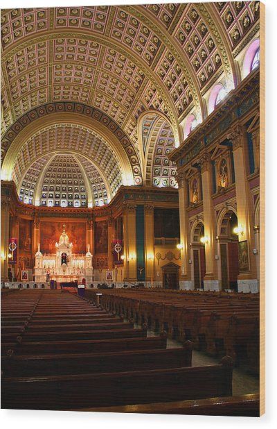 Our Lady Of Sorrows Basilica Wood Print