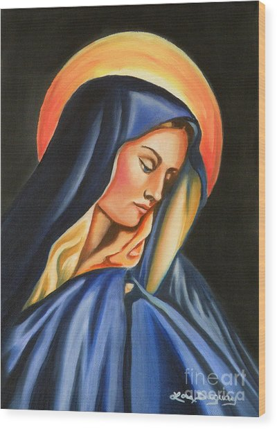 Our Lady Of Sorrows Wood Print