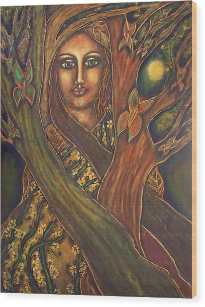 Our Lady Of The Shimmering Wildwood Wood Print by Marie Howell Gallery