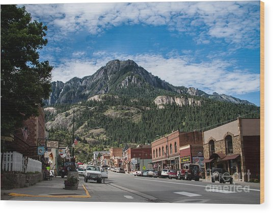 Ouray Main Street Wood Print