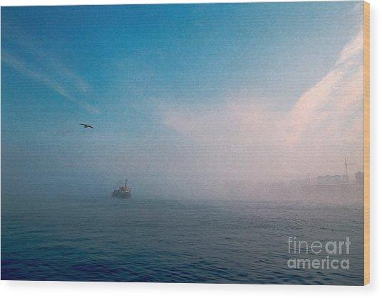 Out Morning At Sea  Wood Print