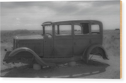 Out Of Gas Wood Print