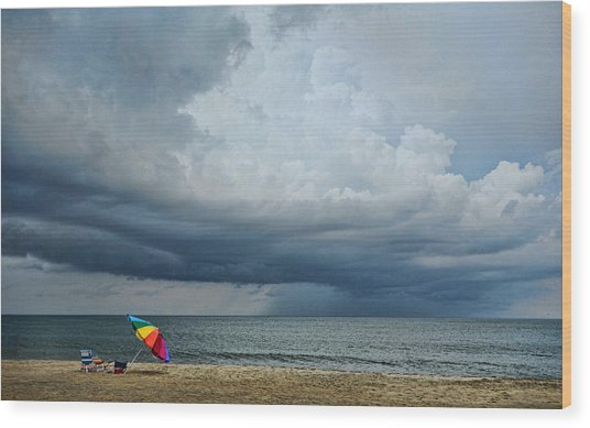 Out To Sea - Outer Banks Wood Print