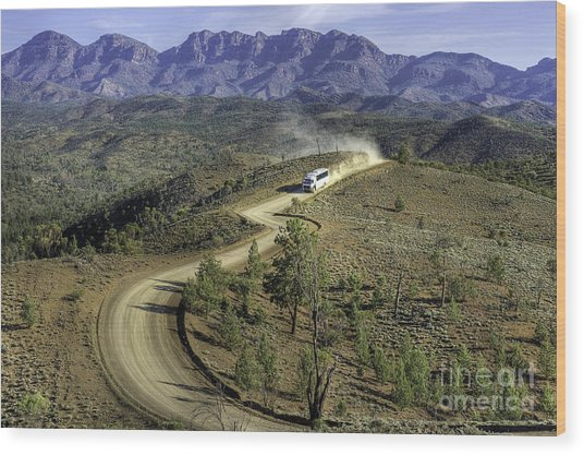 Outback Tour Wood Print