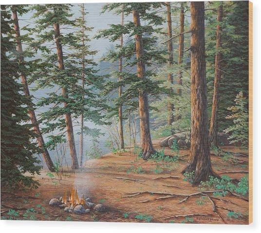 Outdoor Life Wood Print