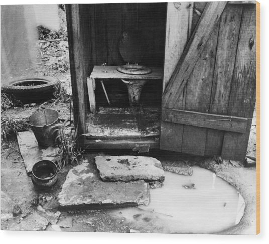 Outdoor Toilet, 1935 Wood Print by Granger