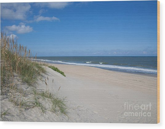 Outer Banks Beach  Wood Print