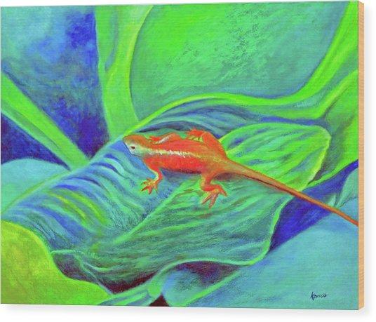 Outer Banks Gecko Wood Print