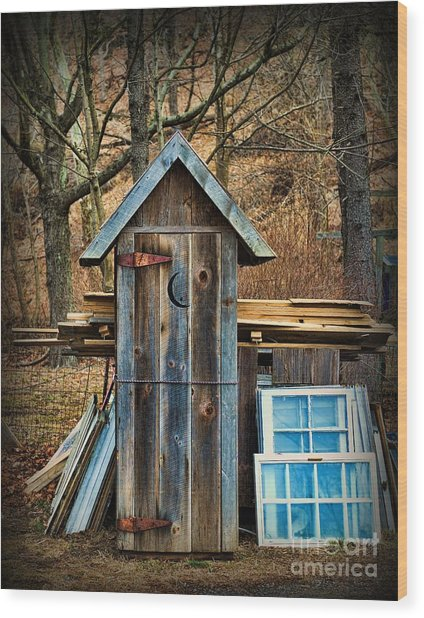 Outhouse - 5 Wood Print