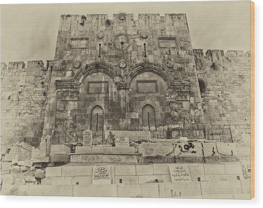 Outside The Eastern Gate Old City Jerusalem Wood Print