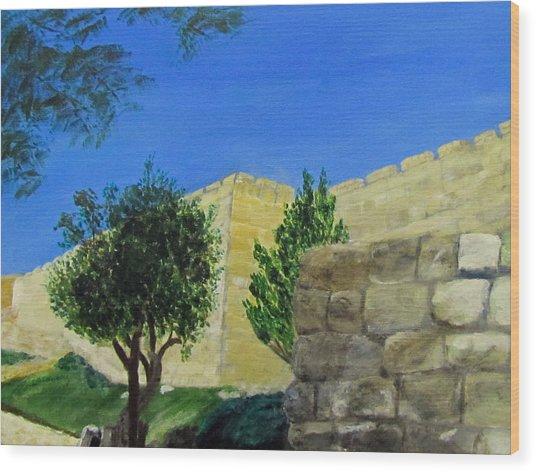 Outside The Wall - Jerusalem Wood Print