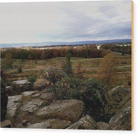 Over The Battle Field Of Gettysburg Wood Print