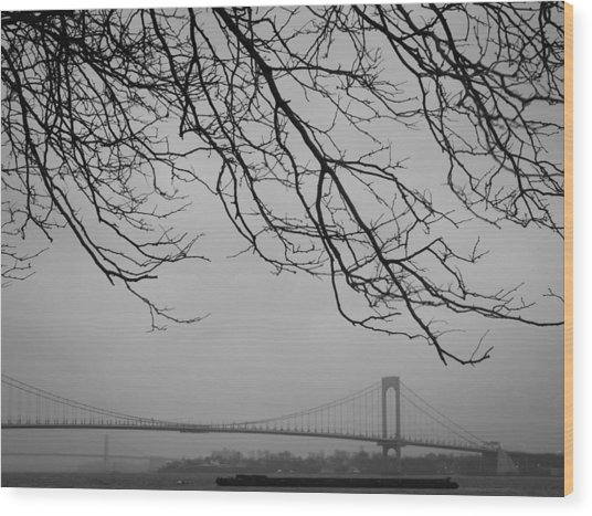 Over The Bridge Wood Print by Richie Stewart