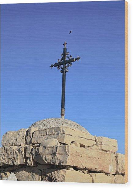 Over The Cross Wood Print