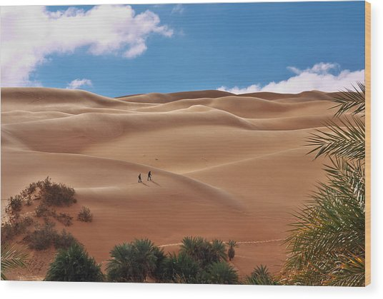 Over The Dunes Wood Print
