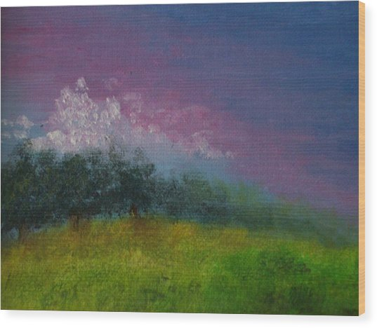 Over The Horizon Wood Print by Margie Ridenour