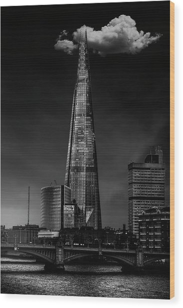 Over The Shard Wood Print by Jackson Carvalho