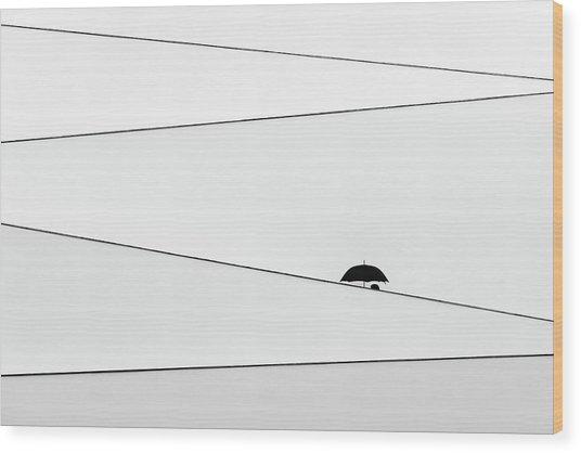 Over There, It's Raining Wood Print by Fernando Correia Da