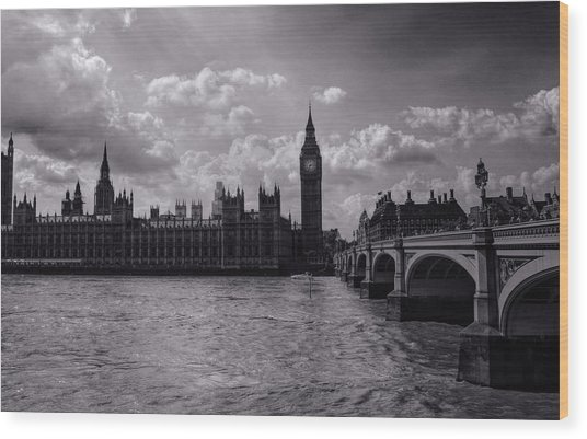 Over Westminster Bridge Wood Print